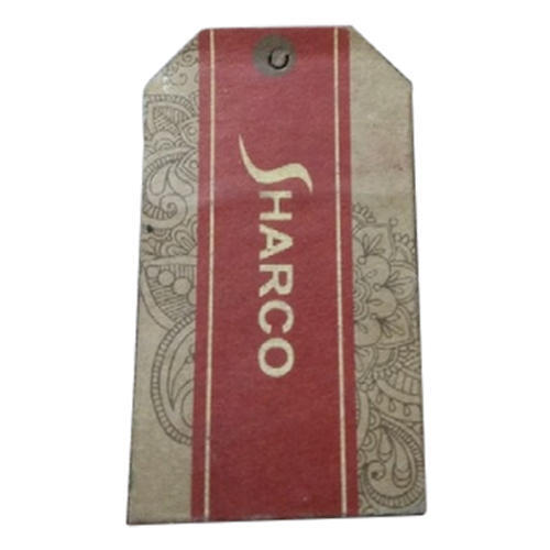 Hard Paper Brown Printed Hang Tag
