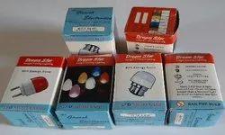 Printed White LED Bulb Carton Box, Size: 5x5x95mm, Box Capacity: 1-5 Kg
