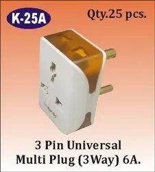 K-25 A 3 Way 3 Pin Multi Plug