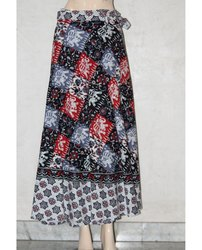 Rajasthani Printed Cotton Wrap Skirt