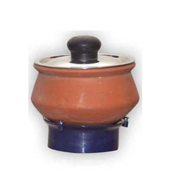 Earthen Curd Pot (with s.s.Lid)