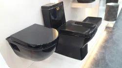 Gloss Full Black 1Pc Toilet