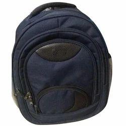 Blue and Black Plain Girls School Bag