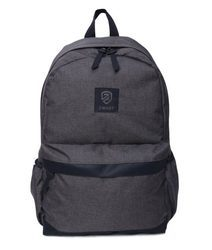 Grey Black Free Size Polyester Backpack