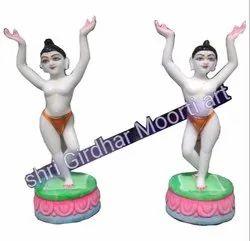 Marble Gaur Nitai Statue