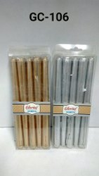 GC-106 Golden / Silver Taper Candles (5 Pc / Pkt)