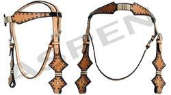 Leather Western Headstalls Horse Headstalls Studded Headstal