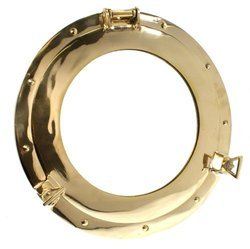 Brass Gold Finish Porthole Mirror