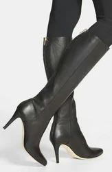 Women Pencil Heel Long Boots, Size: Uk