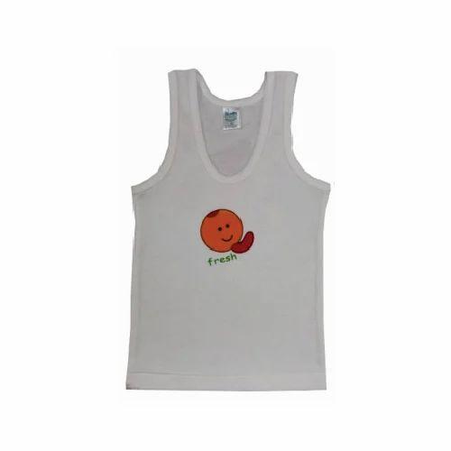 889f44f82 White Cotton Baby Sando Vest