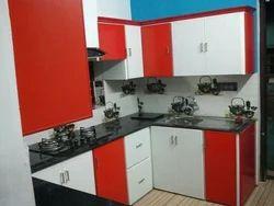 Aluminium PVC Box Type Modular Kitchen, Warranty: 10-15 Years