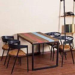 铁餐厅家具,座位:4人
