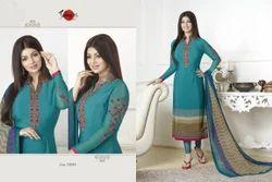 Collar Neck Suhati Salwar Suit Fabric