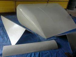 Fiber Glass Black And White FRP Automobile Components