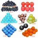 Orange - Red Round Handmade Mini Plain Resin Beads, 250 Grams Pack, Size: 20 Mm