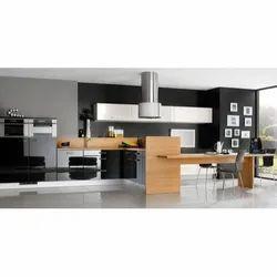 Wooden Laminated Modular Kitchen, Kitchen Cabinets