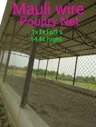 Steel Poultry Farm Fencing, Size: 30mm X 16G