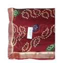 Georgette Casual Bandhani Saree, 5.5 M (separate Blouse Piece), With Blouse Piece