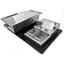 Silver Black Combo Rectangular Snacks Set
