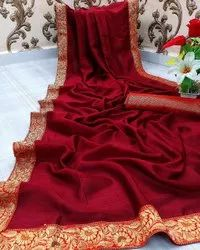 Riva Enterprise Vichitra Silk Fancy Boarder Saree