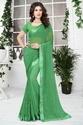 Georgette Fashion Arrival  Stone Work Sea Green  Color Saree
