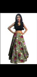 Bdp0022216 Multicolor Readymade Lehenga Printed Fabric