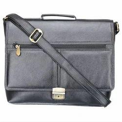 Genuine Leather Black Laptop Briefcase LPBL004