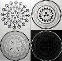 Black Hand Printed Floor Tile