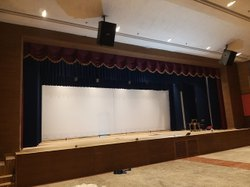 Horizontal, Vertical Motorized Stage Curtain Frills, For Auditorium Hall