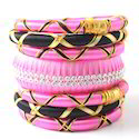 Indian Handcraft Trendy Jewelry Silk Thread Bangles