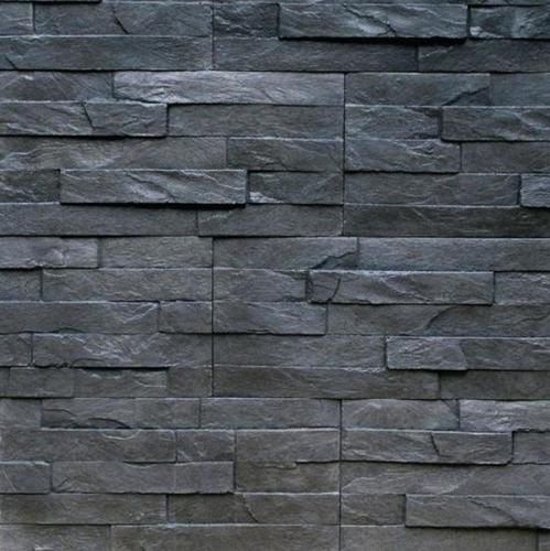 Black Slate Wall Stone Cladding 45 Mm