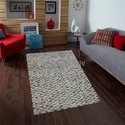 Rectangular Handmade Leather Carpets Exporter Hair On Hide Collection