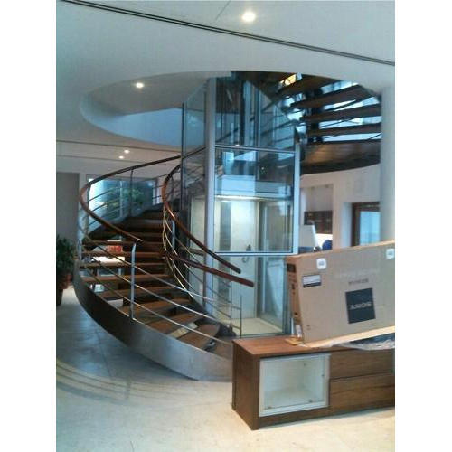 Stainless Steel Stairs   Wooden Duplex Staircase With Railing Manufacturer  From New Delhi