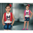 Denim Casual Wear Girls Kids Shorts
