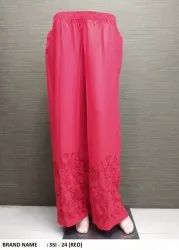 Red Embroidery Palazzo