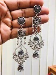 Oxidized Earrings Dangle-Drop