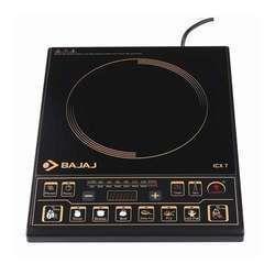 Black 2000W Bajaj Induction Cooker, Warranty: 1 Year, Button
