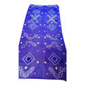 Cotton Blue Printed Bandhej Dupatta, Length: 2.5 M