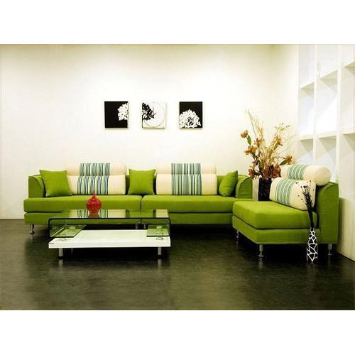 Green L Shape Sofa