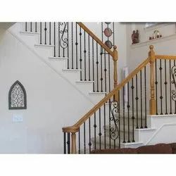 Mild Steel Pipe Staircase Railing for Home
