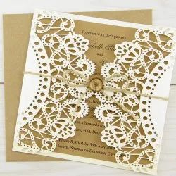 Laser Cut Invite with a jute rope