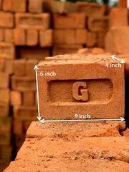 Orangish Clay Flyash Bricks, Size: 9 In * 6 In* 4 In