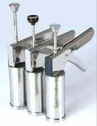 CLUBINDIA Plastic Kitchen Press Set, 12-Pieces, Silver