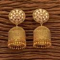 Engagement Girls Antique Jhumkis With Gold Plating 200387