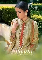 Levisha Mausin Pashmina Winter Dress Material Catalog Collection
