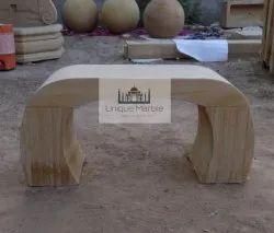 Sandstone Arch Garden Bench