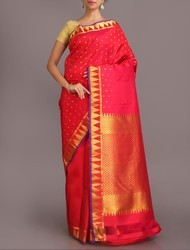 Red Party Wear Salem Silk Saree