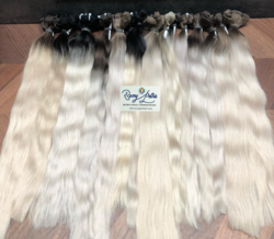 White Blonde Human Hair Extensions