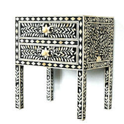 Bone Inlay Bedside