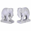 Marble Alabaster Elephant Sculpture